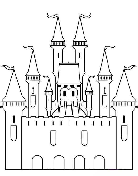 Dibujo castillo princesa - Imagui