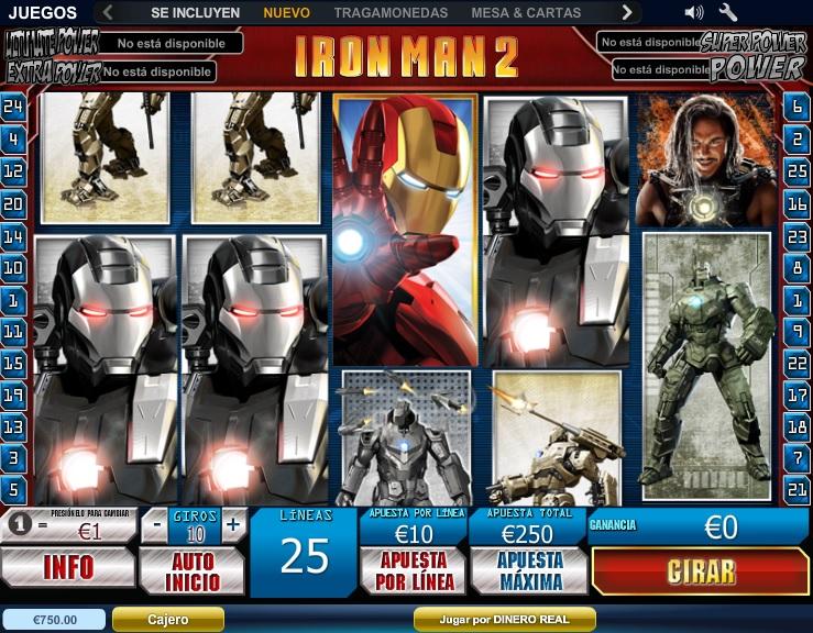 Iron Man Tragaperras