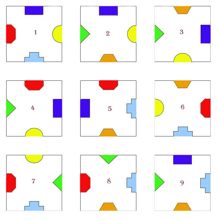 9 cuadrados